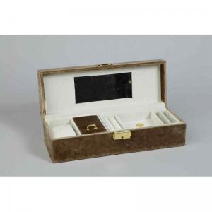 Smyckesskrin L28xH8cm Guld