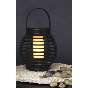Solcell flammande lanterna 15x16cm