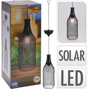 Solcellslampa flaskformad metallnät