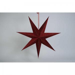 Julstjärna sammet Röd D75cm