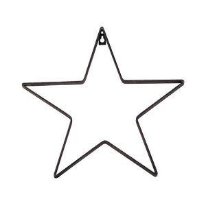 Stjärna Svart 35,5 x 2 x 33,5