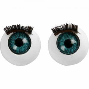 Stora ögon med fransar 12mm 6-pack