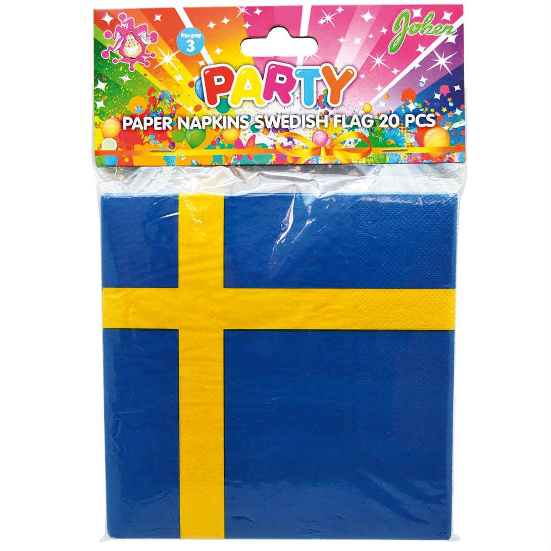 Pappersservetter Svenska Flaggan