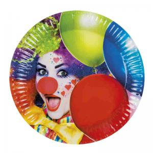 Tallrik Clown 6-pack