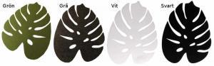 Tallriksunderlägg filt blad 4 olika färger 40x30cm