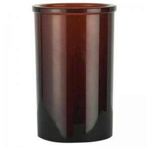 Tandborstmugg brunt glas