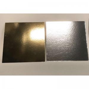 Tårtbricka kvadrat guld/silver kvadrat 30cm