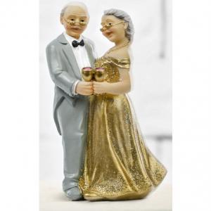 Brudpar äldre par guldbröllop