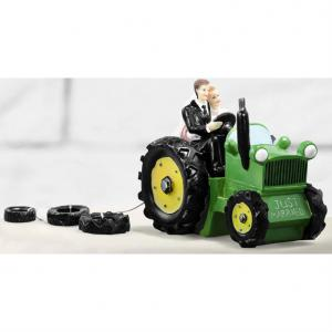 Brudpar Traktor