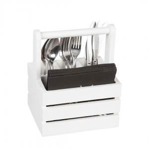 Trälåda för Bestick-servett 20x25 cm