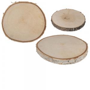 Träskivor för dekoration D15cm