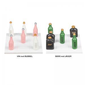 Tre i Rad Trä Flaskor