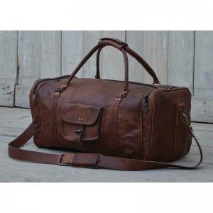 Väska / Trunk Brunt läder L55xD25xH28cm