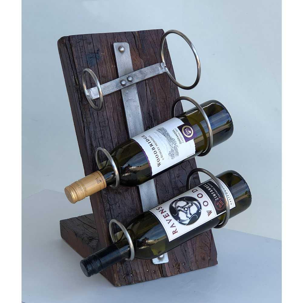 Vinställ bord recycled för 3st flaskor
