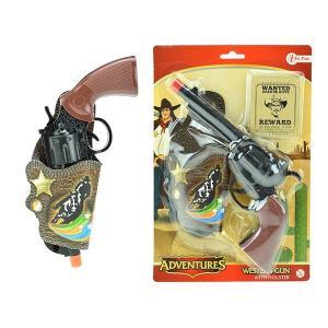 Pistol med hölster Western