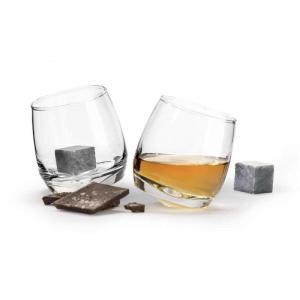 whiskeyglas och drinkstenar