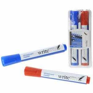 Whiteboardpennor röd och blå 2-pack