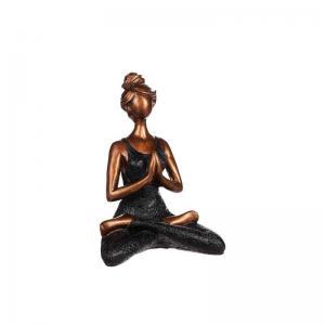 Yoga kvinna H23cm Svart