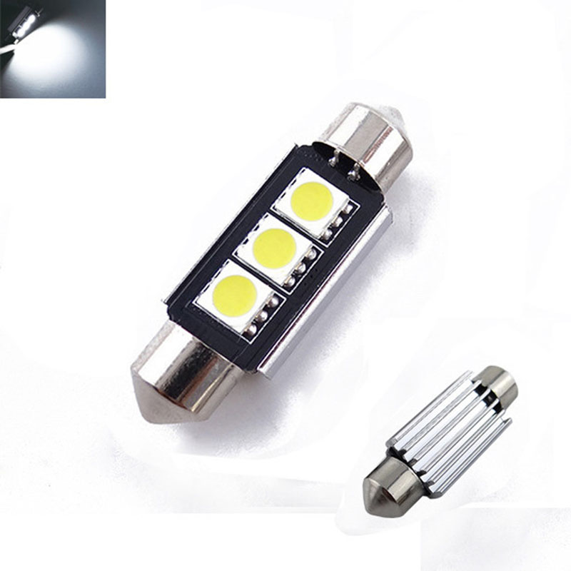 2st LED lampor diod lampa till bilen 36 / 42 mm C5W
