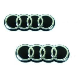 Audi emblem till bilnycklarna 2-pack nyckelemblem