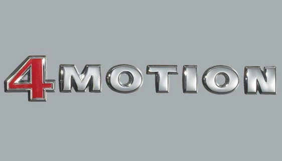 Volkswagen 4Motion emblem märke till bilen