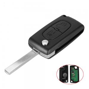 Komplett Peugeot Citröen 433mhz nyckel med 2 knapp