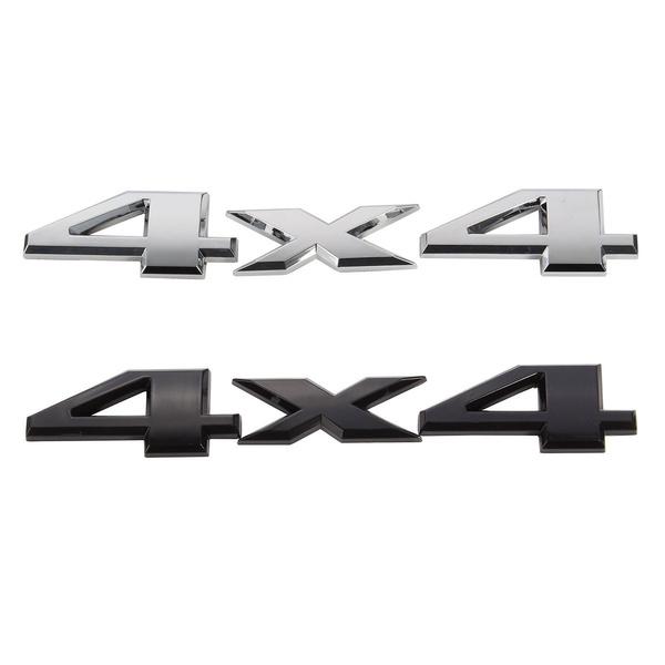 4x4 emblem till Dodge. Finns i svart och silver färg