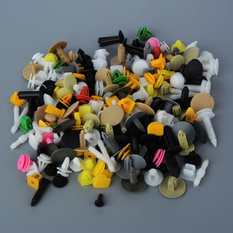 500st klipps klips plastskruvar till bilen. Passar alla bilmärken