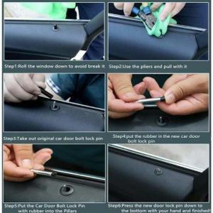 Audi dörrlock till låset. Med Audi logo 4-pack