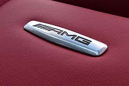 Mercedes och AMG logo emblem till bilsätet
