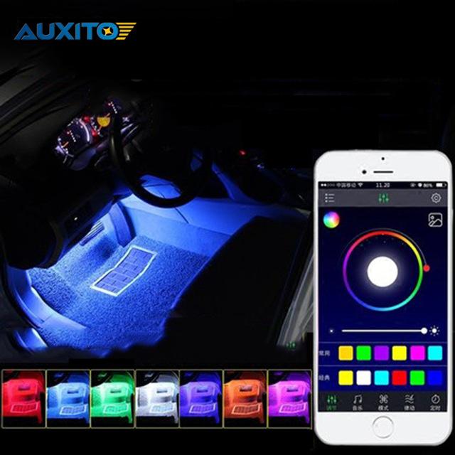 Attraktiva LED RGB interiör list strip belysning till bilen. Styr med telefonen OG-39