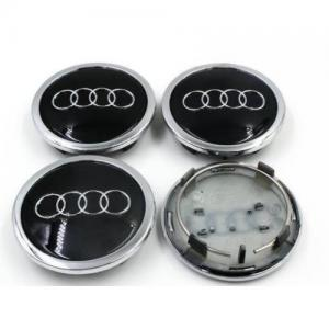 Audi centrumkåpor fälgkåpor i svart 60, 68, 77 mm