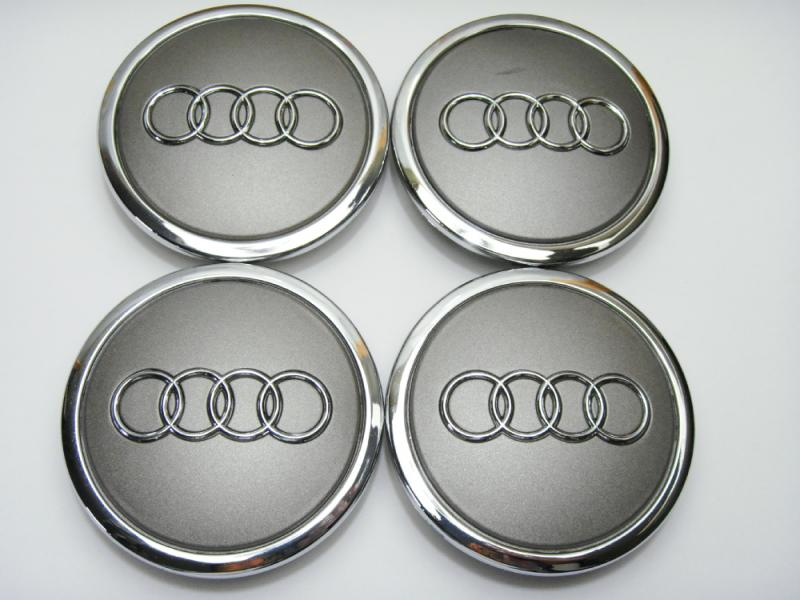 Audi original centrumkåpor gråa 61, 68, 77 mm