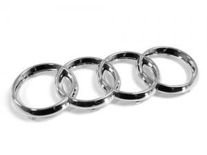 Audi emblem i silverfärg till A3 A4 S4 A5 S5 A6 S6