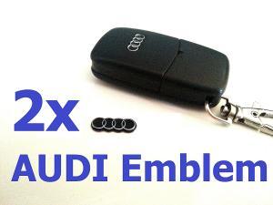 Audi emblem till bilnycklarna 2-pack emblem