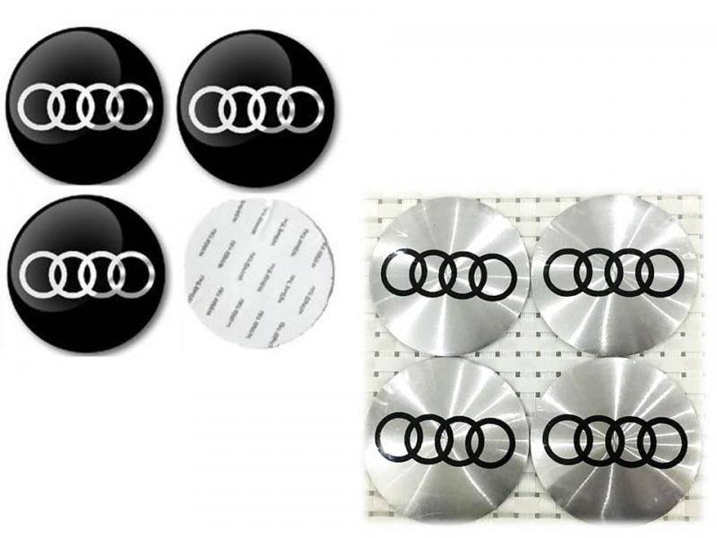 Audi logo hjulnav emblem 56, 60 och 65 mm 4st