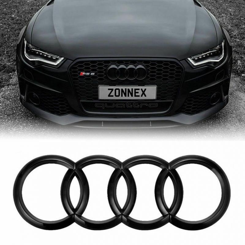 Audi emblem i blank svart till A3 A4 S4 A5 S5 A6 S6