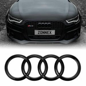 Audi emblem i svart till A3 A4 S4 A5 S5 A6 S6