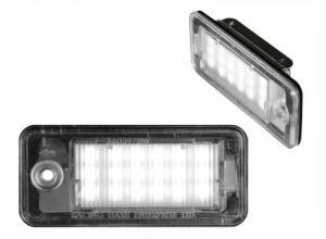 Audi skyltbelysning vita LED lampor A3 A4 A6 S6 A8 S8