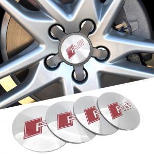 Audi RS logo fälg emblem 56 mm 4pack fälgemblem