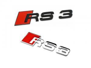 Audi RS3 emblem till bilens bagagelucka / skärm