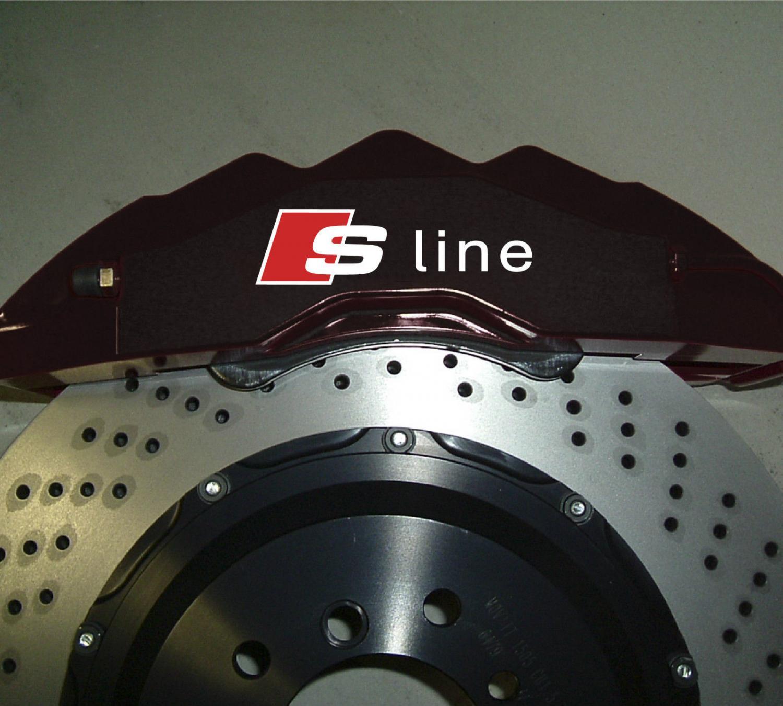Audi Sline dekal till bromsok, bromsoks dekaler S line 4st