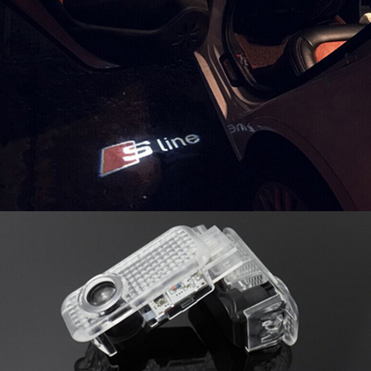 Audi Sline s line logo dörrbelysning dörrlampor
