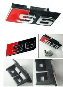 Audi S6 märke emblem till grillen. Grillemblem