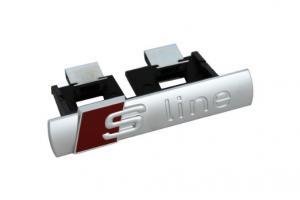Audi Sline S line emblem till grillen svart/silver grill märke
