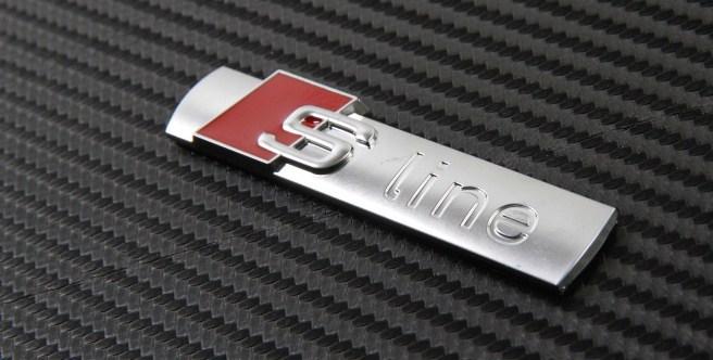audi s line original emblem till bilen sline m rke till. Black Bedroom Furniture Sets. Home Design Ideas