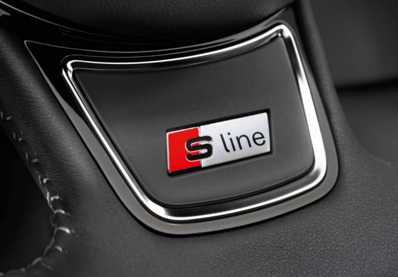 2st Audi S line Sline logo emblem till ratten