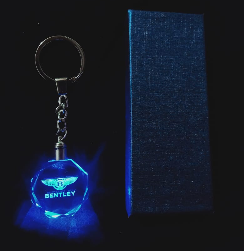 Bentley kristall LED nyckelring nyckelhänge