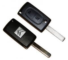 Citröen larmdosa bilnyckel med 2 knappar C4 C5 C6 C8