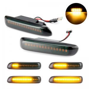BMW E46 3 serie DRL LED blinkers i svart till bilen